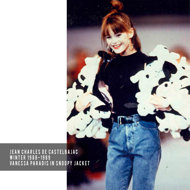 JC de Castelbajac-Winter-1988-1989-Vanessa-Paradis-Snoopy-Jacket