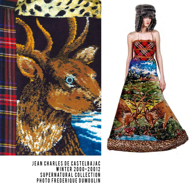 JC de Castelbajac-Winter 2000-2001-Tapestry Dress-Supernatural Collection