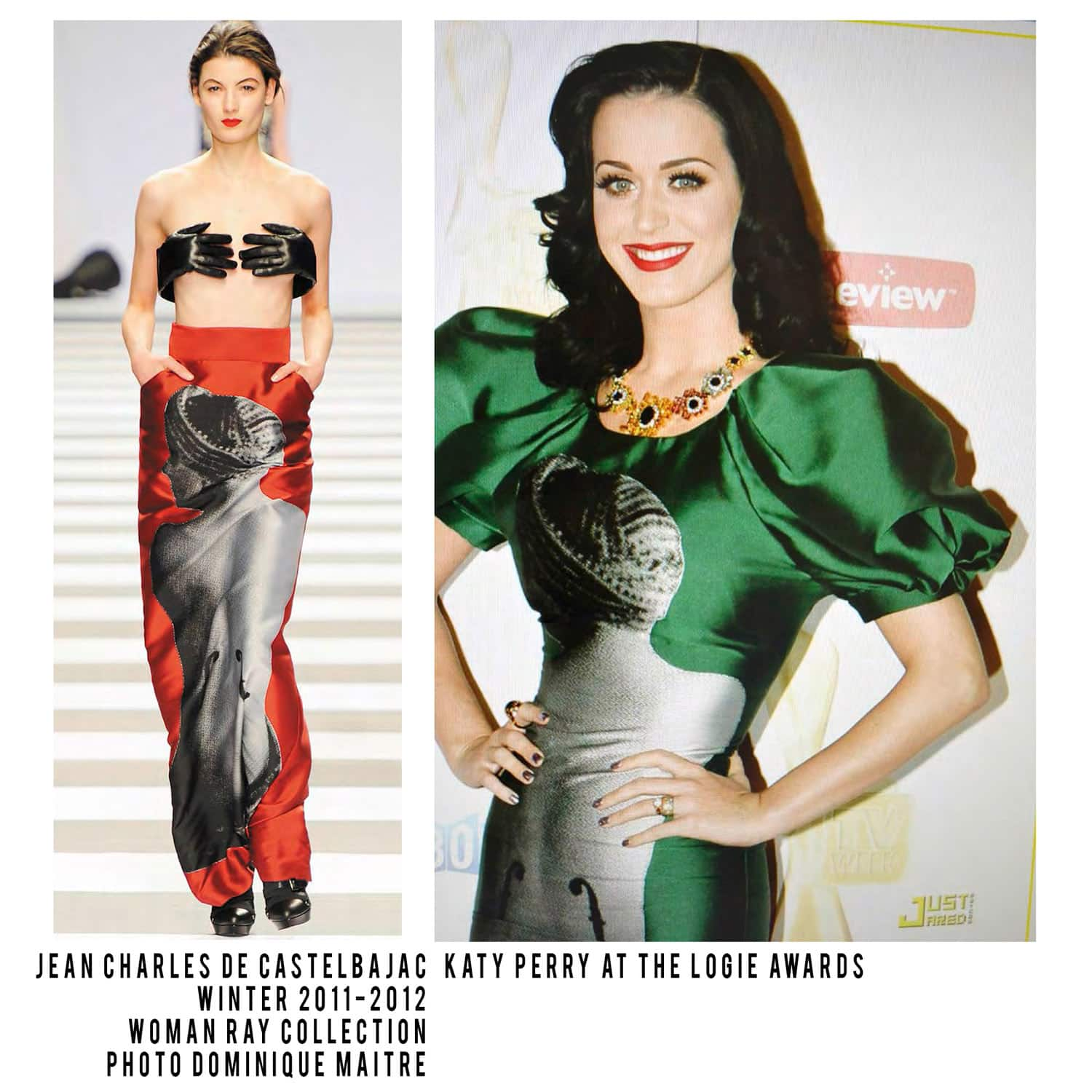JC de Castelbajac-Winter 2011-2012-Woman Ray Collection-Katy Perry at Logie Awards