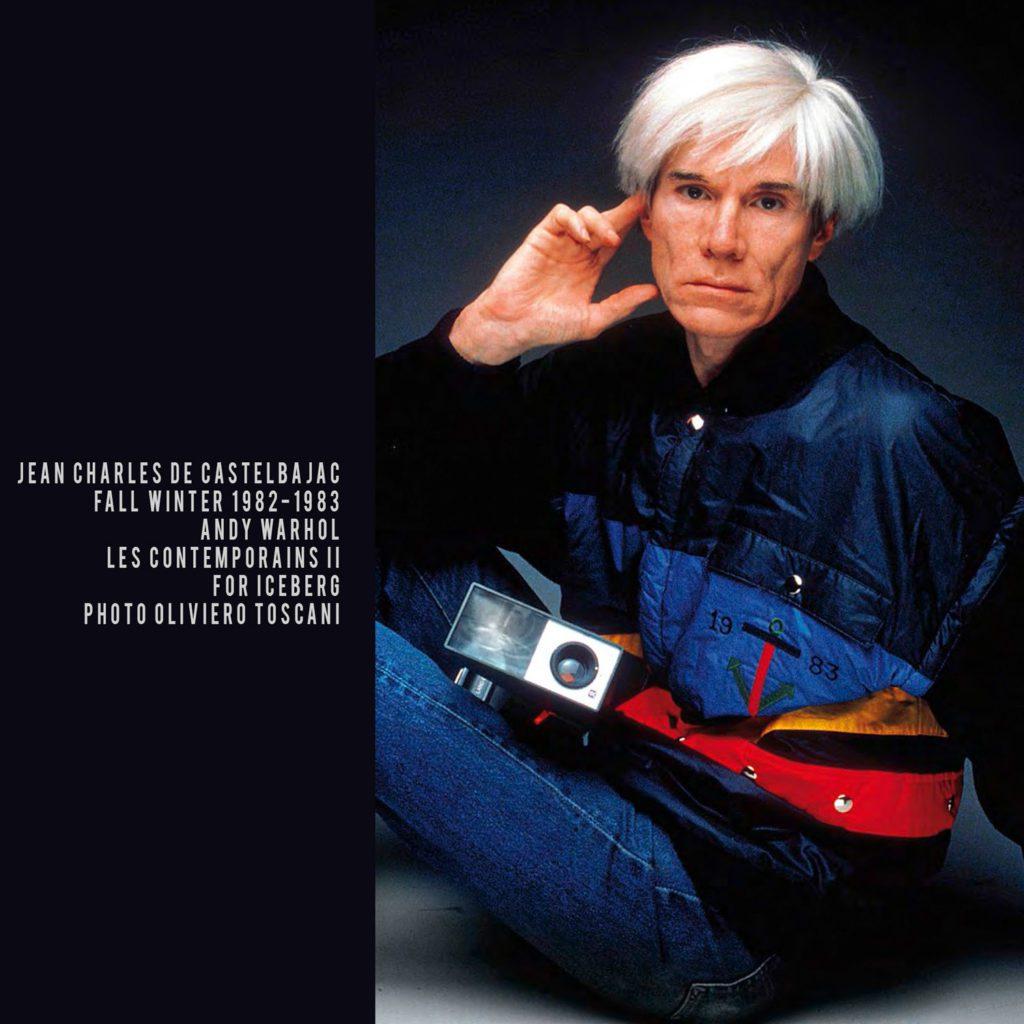 JC de Castelbajac for ICEBERG-1982-Andy Warhol-les contemporains II-photo Oliviero Toscani