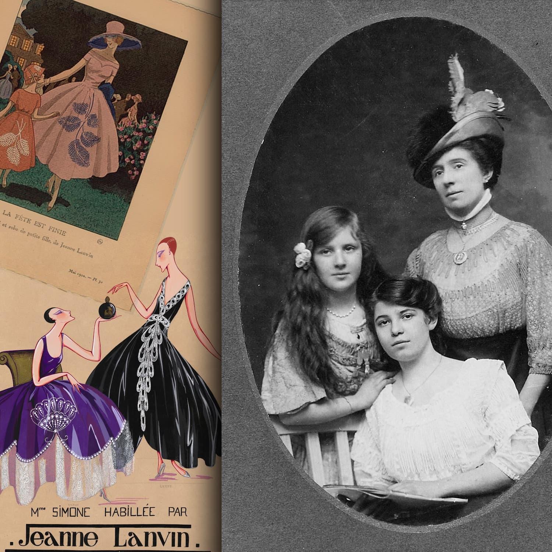 Maison Lanvin - Jeanne Lanvin et Marguerite - Lanvin Inventions - INPI treasures