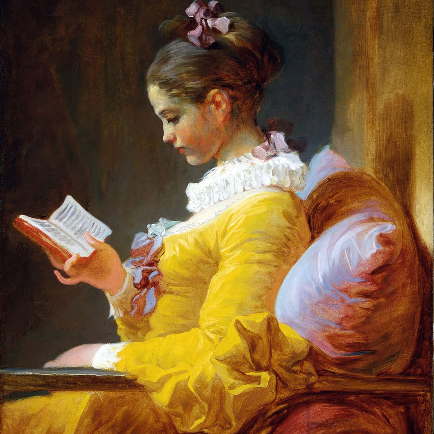 A Young Girl Reading -1776 Jean-Honoré Fragonard