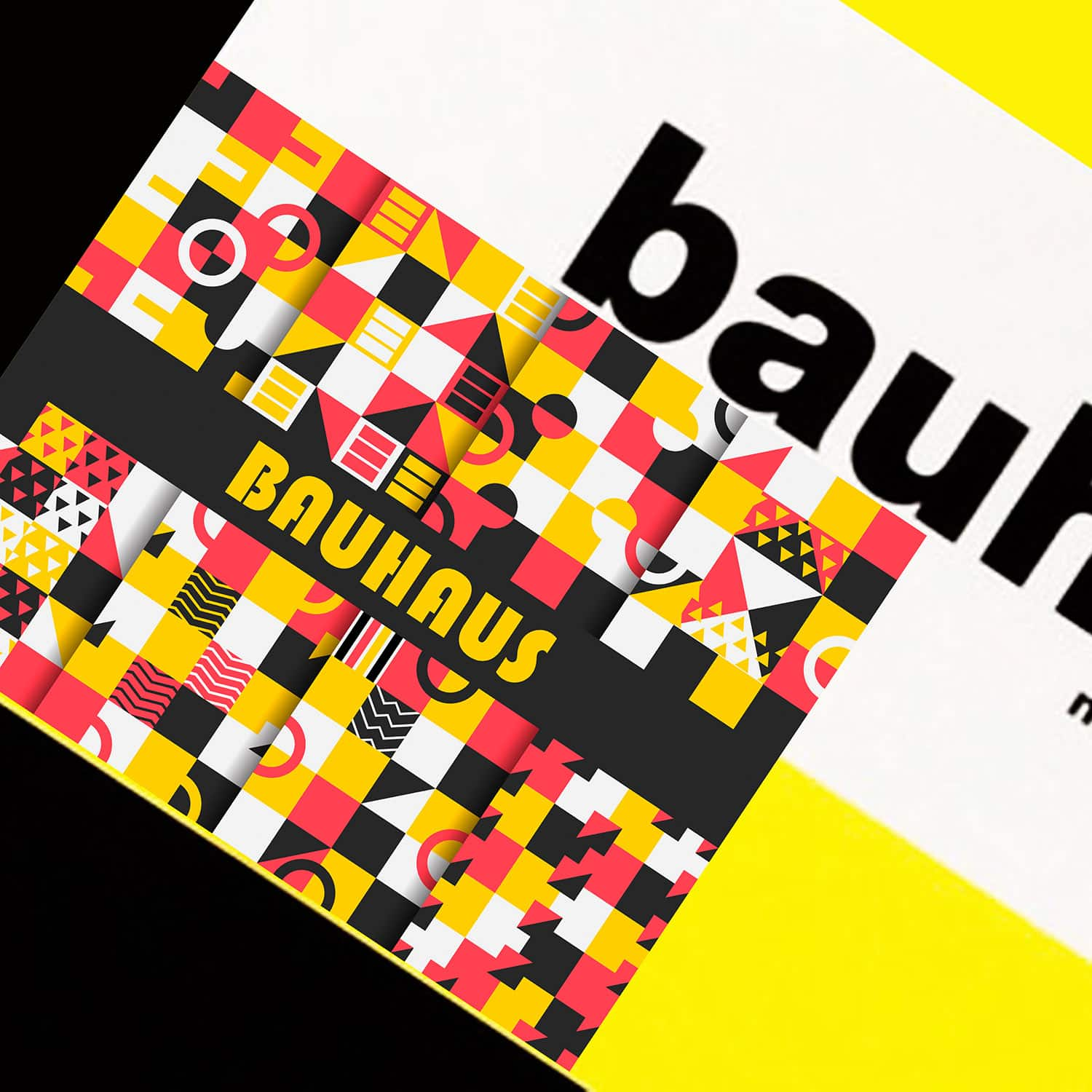 Bauhaus Movement yellow logo