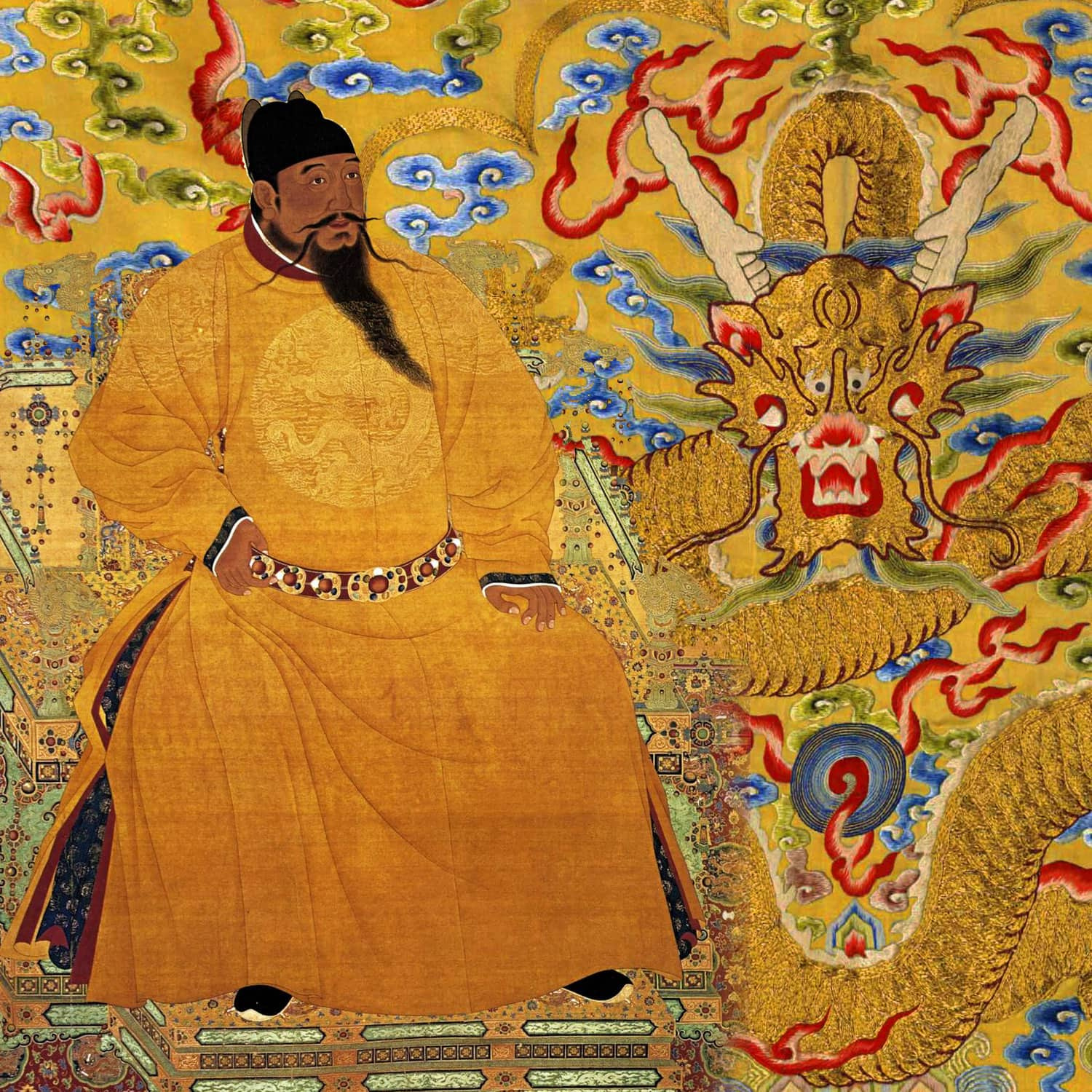 Chinese Yellow Emperor and his symbol Yellow Dragon