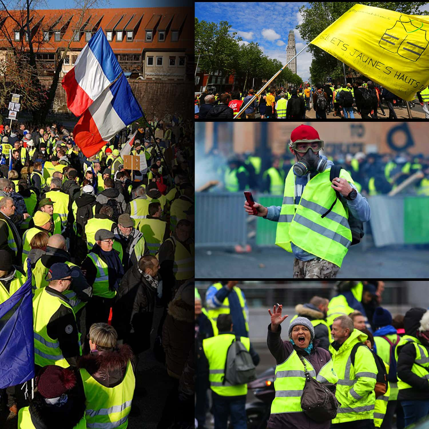 Gilets Jaunes - Yellow vests - movement in France