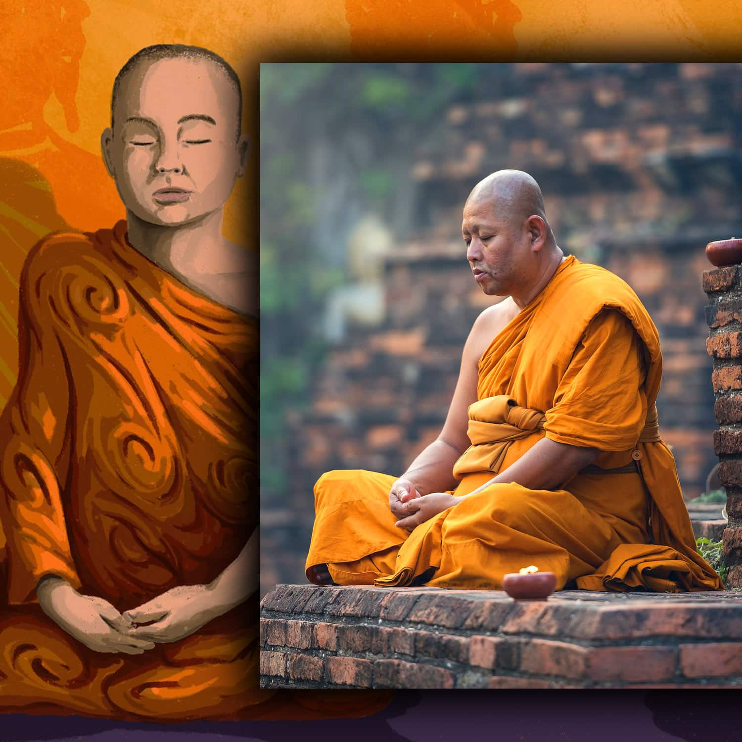 Monks in Mahayana Buddhism
