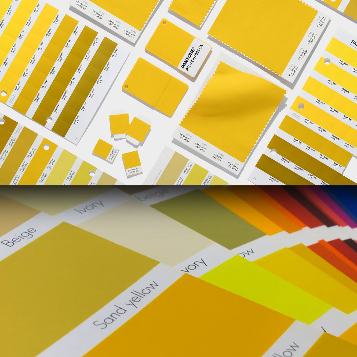 Pantone Yellow color chart