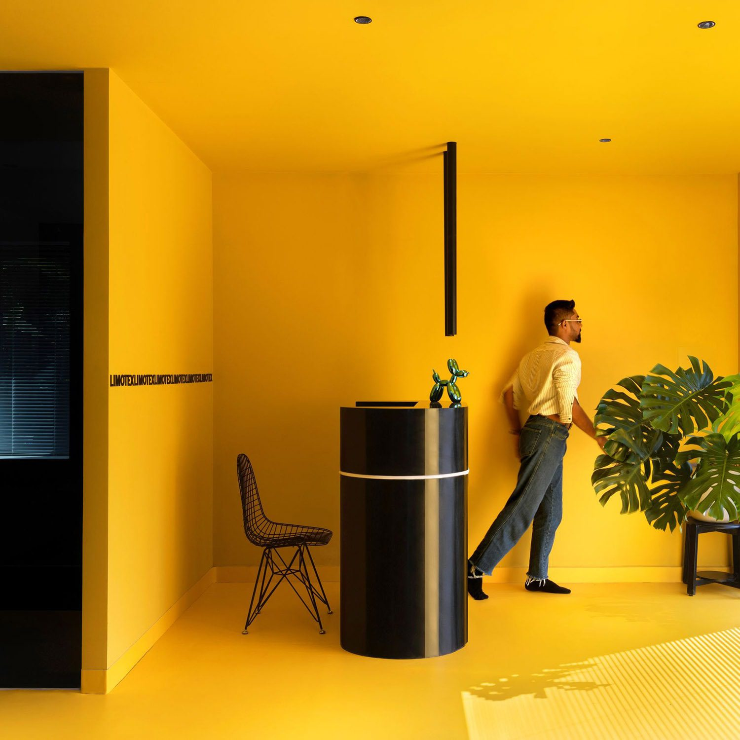 Yellow office interior