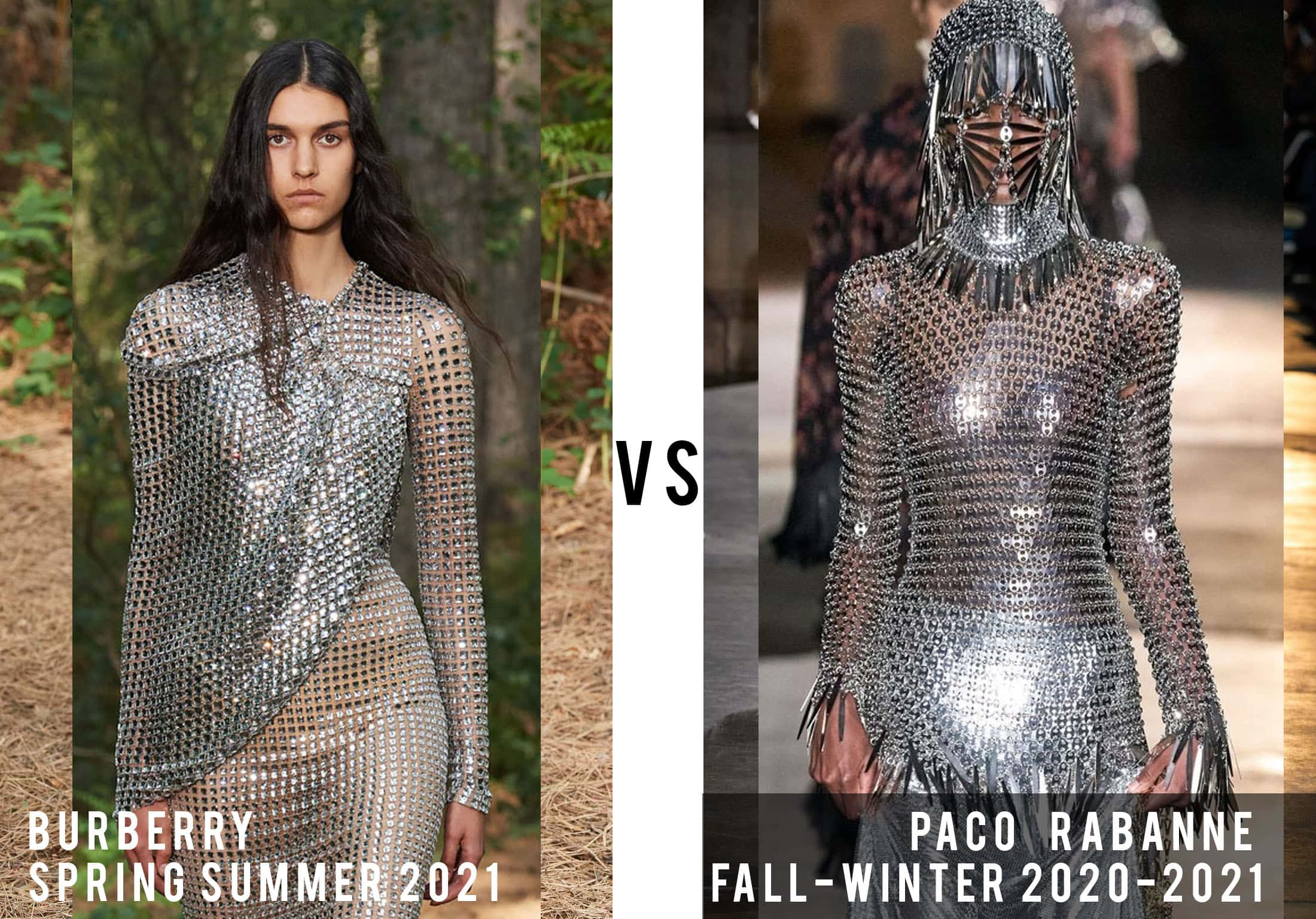 Burberry Spring Summer 2021 vs Paco Rabanne Fall-Winter 2020-2021