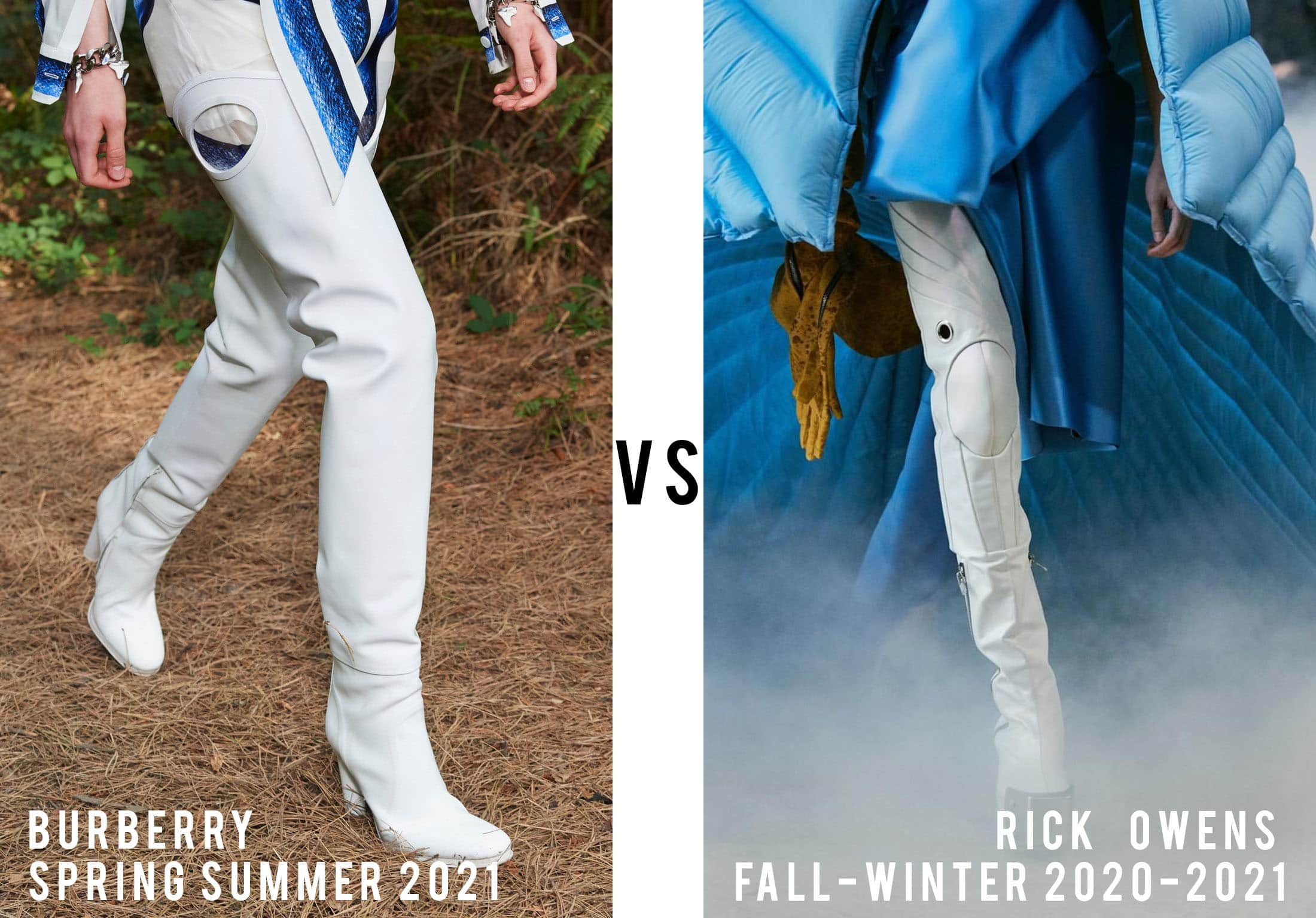 Burberry Spring Summer 2021 vs Rick Owens Fall-Winter 2020-2021