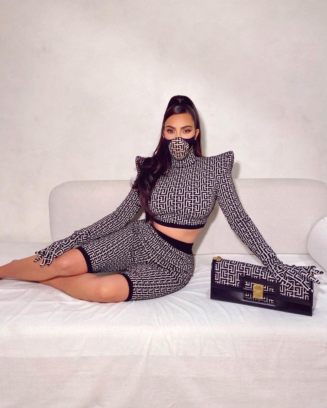 Kim Kardashian in Balmain Spring Summer 2021 by RUNWAY MAGAZINE