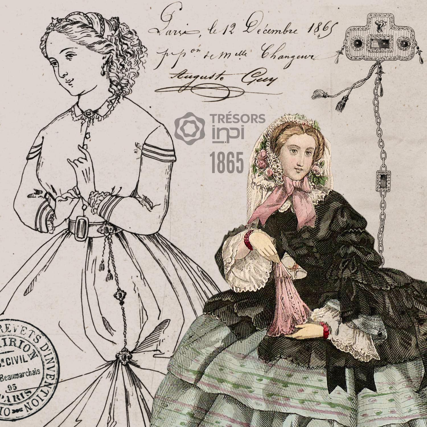 Marie-Louise Changer 1865 invention - INPI archives