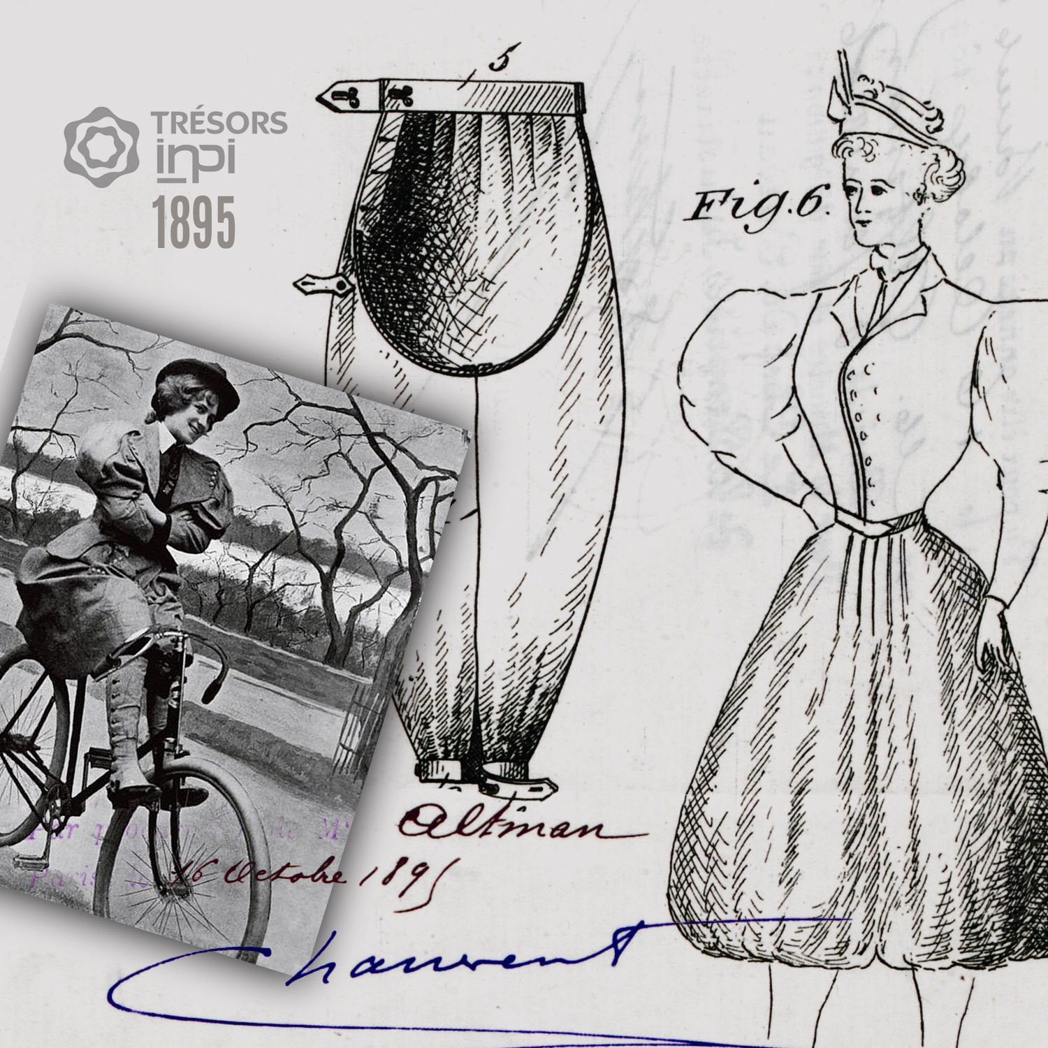 Benjamin Altman 1895 puffy breeches for cyclists invention - INPI archives