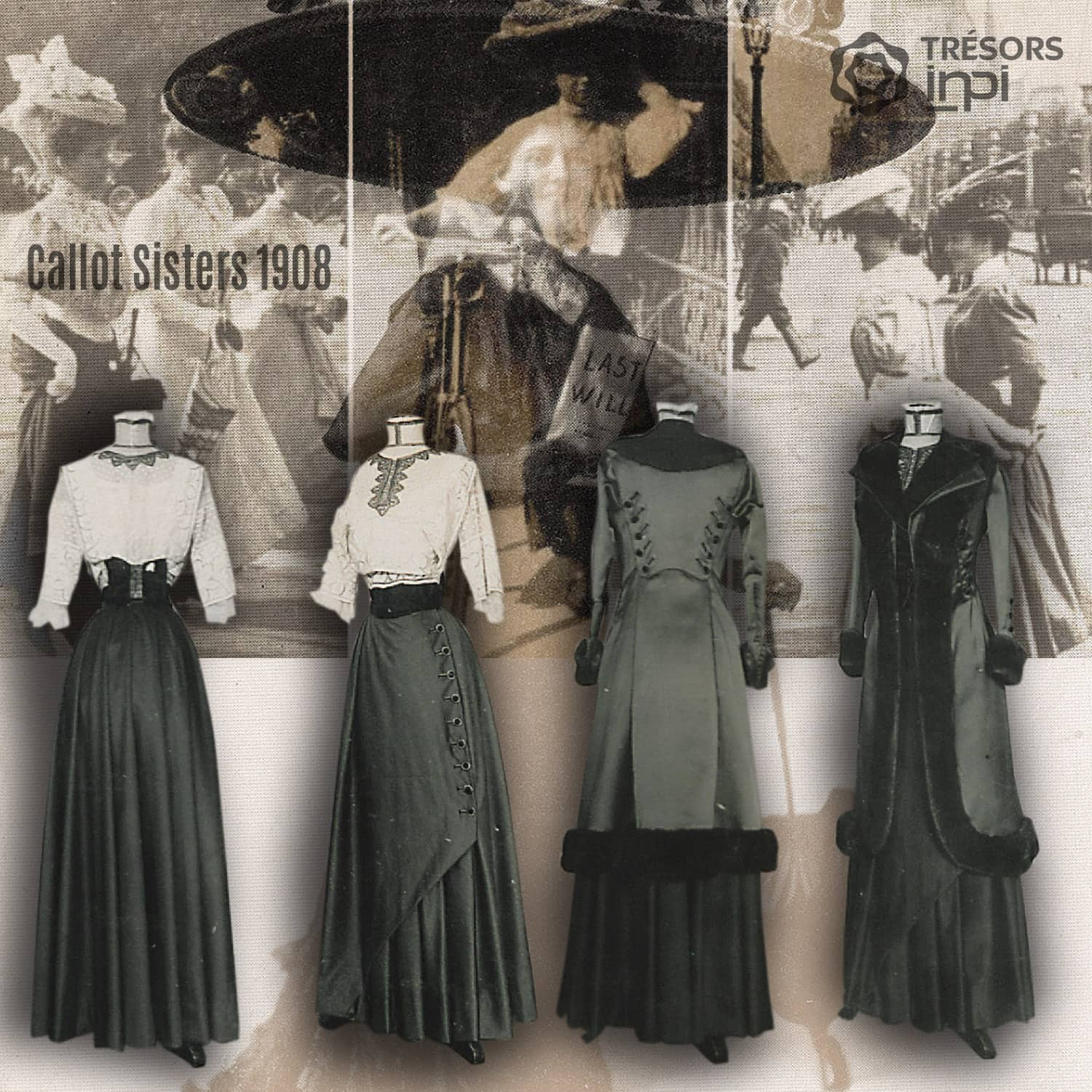 Callot Sisters 1908 Prince Consort skirts invention - INPI archives