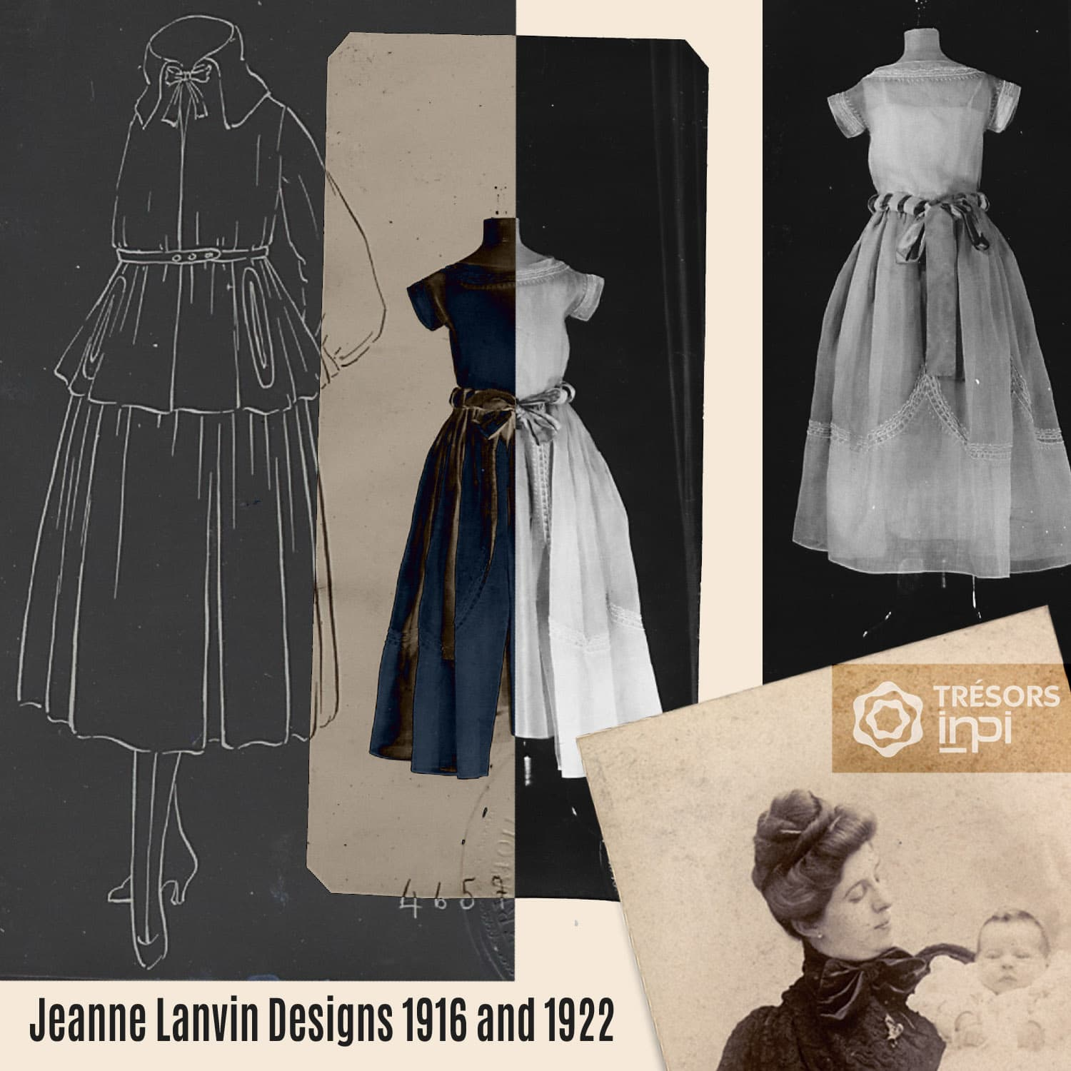 Jeanne Lanvin 1916-1922 skirt inventions - INPI archives