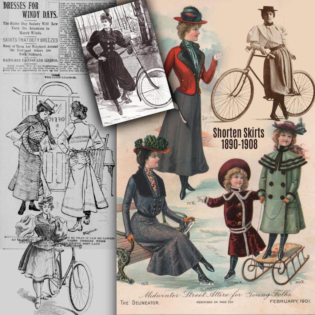 Shorten Skirts 1890-1908