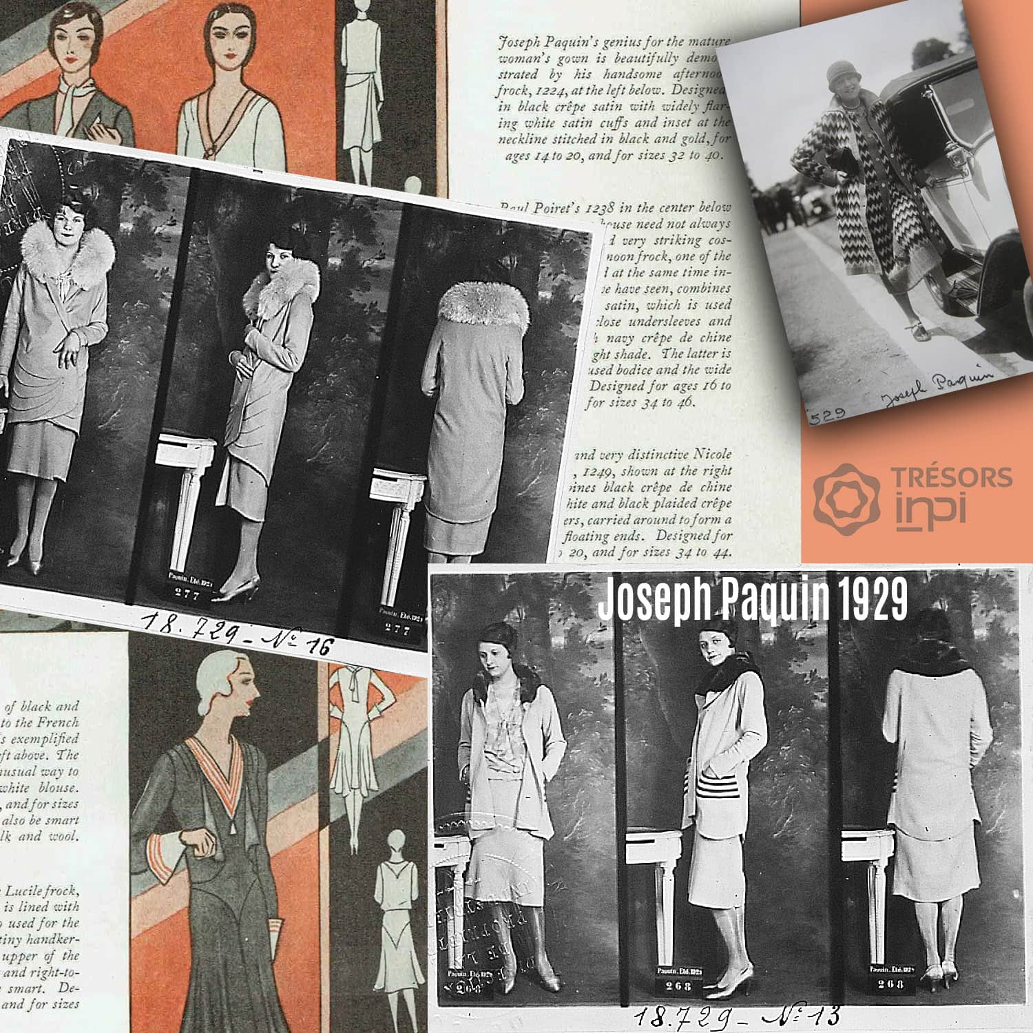 Joseph Paquin 1929 fashion inventions - INPI archives