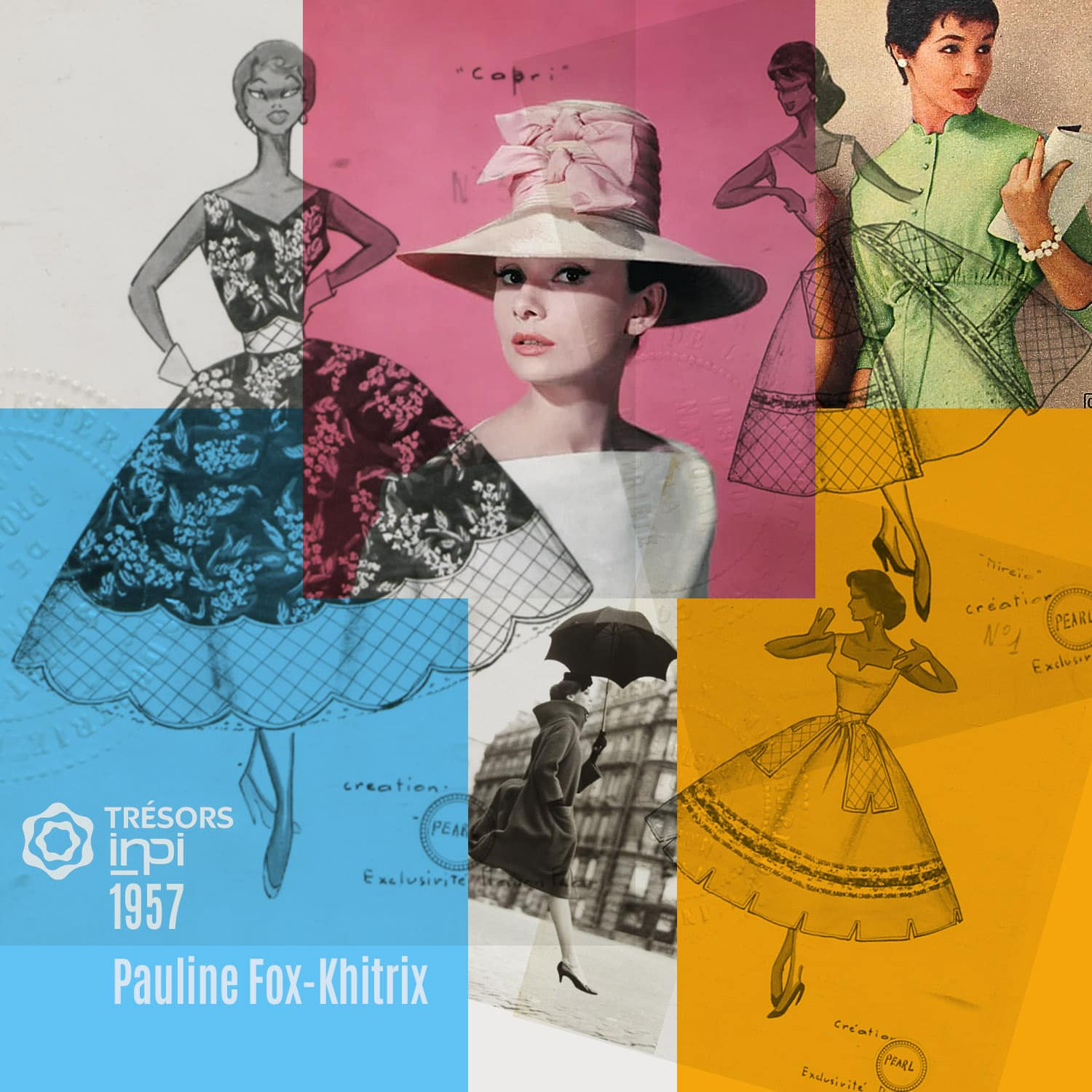 Pauline Fox-Khitrix 1957 skirt dress inventions - INPI archives
