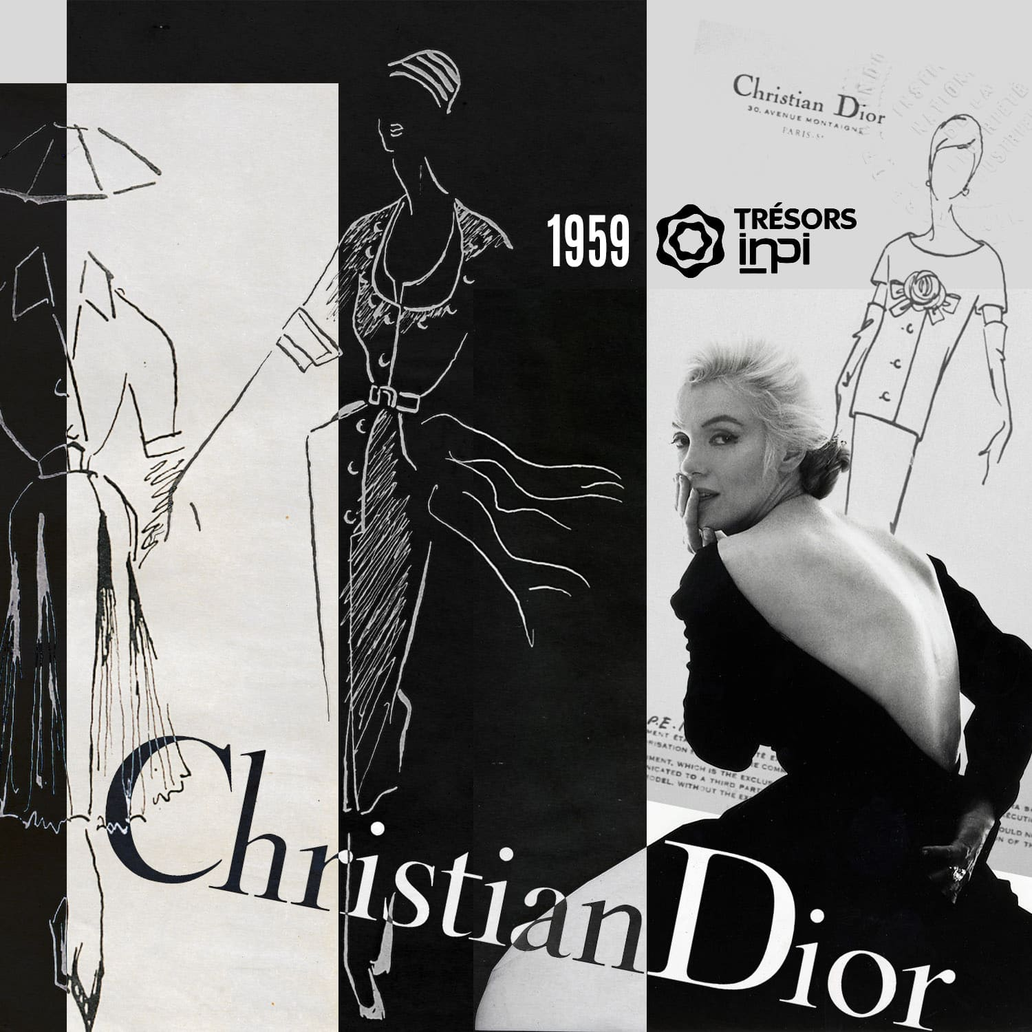 Christian Dior 1959 skirt dress inventions - INPI archives