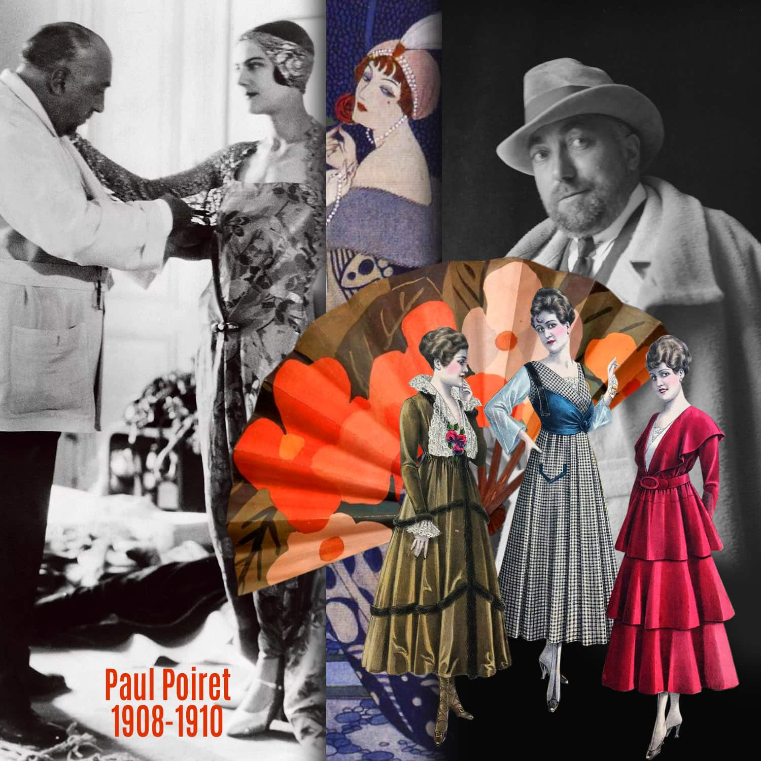 Paul Poiret 1908-1910 inventions