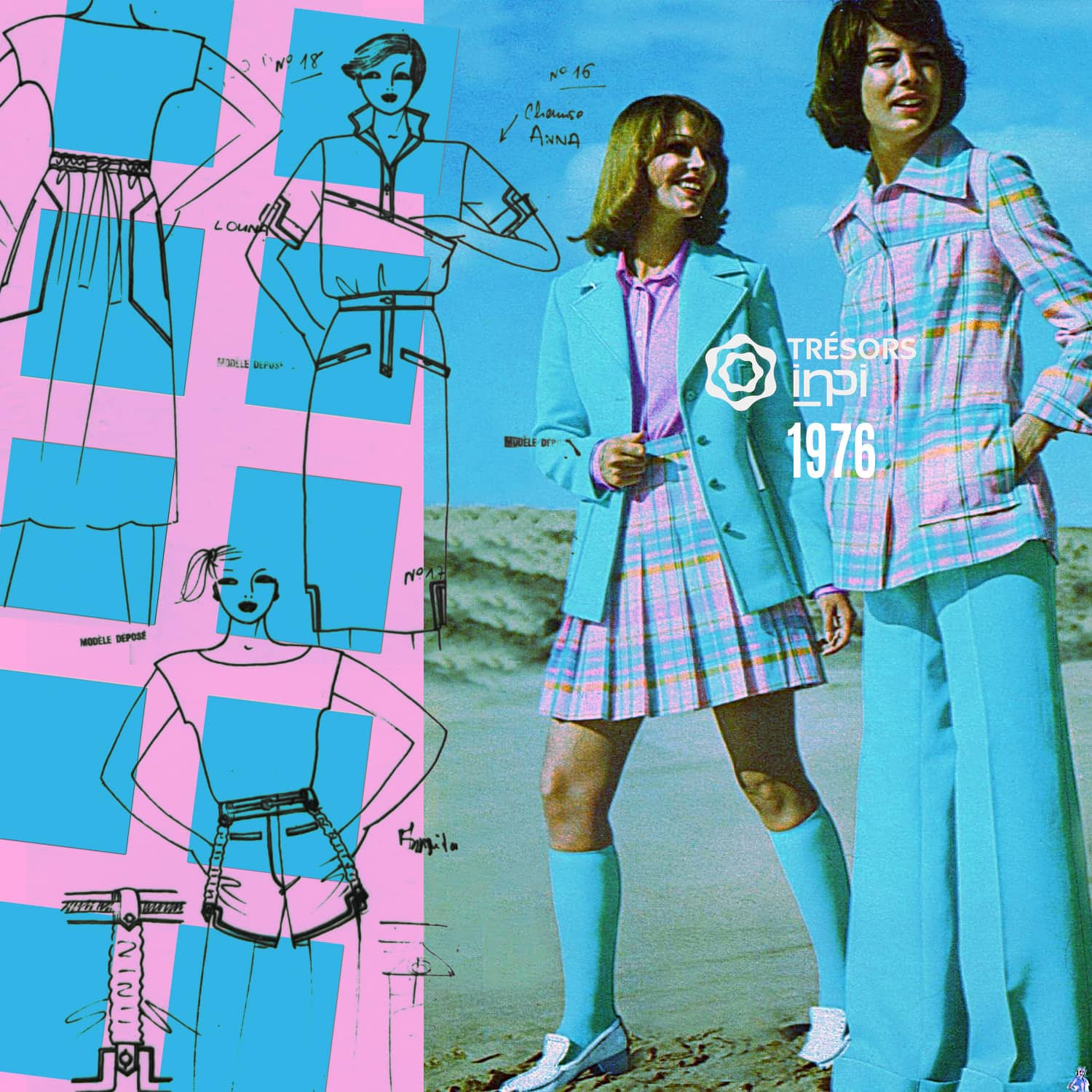 Styliste SARL 1976 tennis mini-skirts, shorts inventions - INPI archives