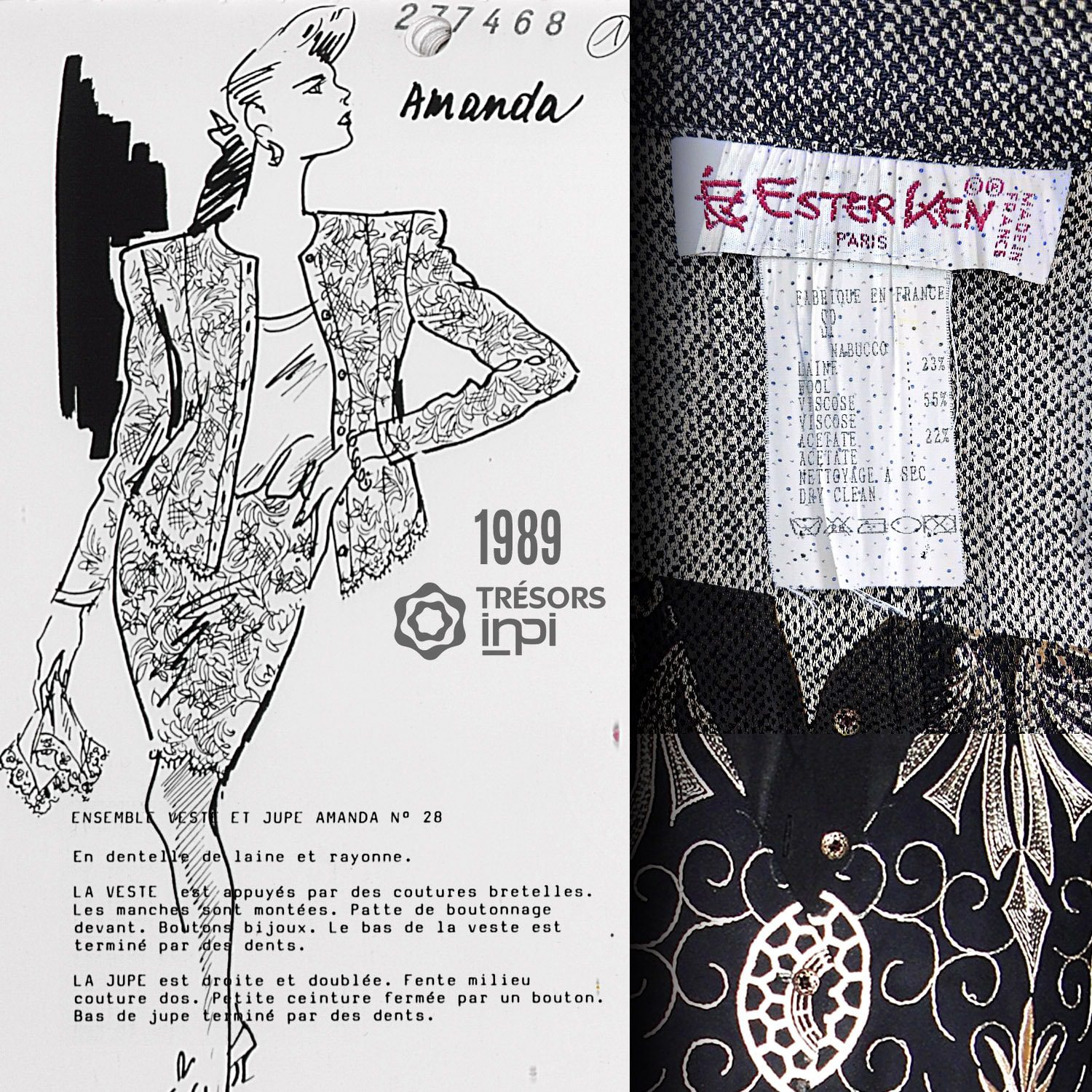 Ester Ken 1989 fashion inventions - INPI archives