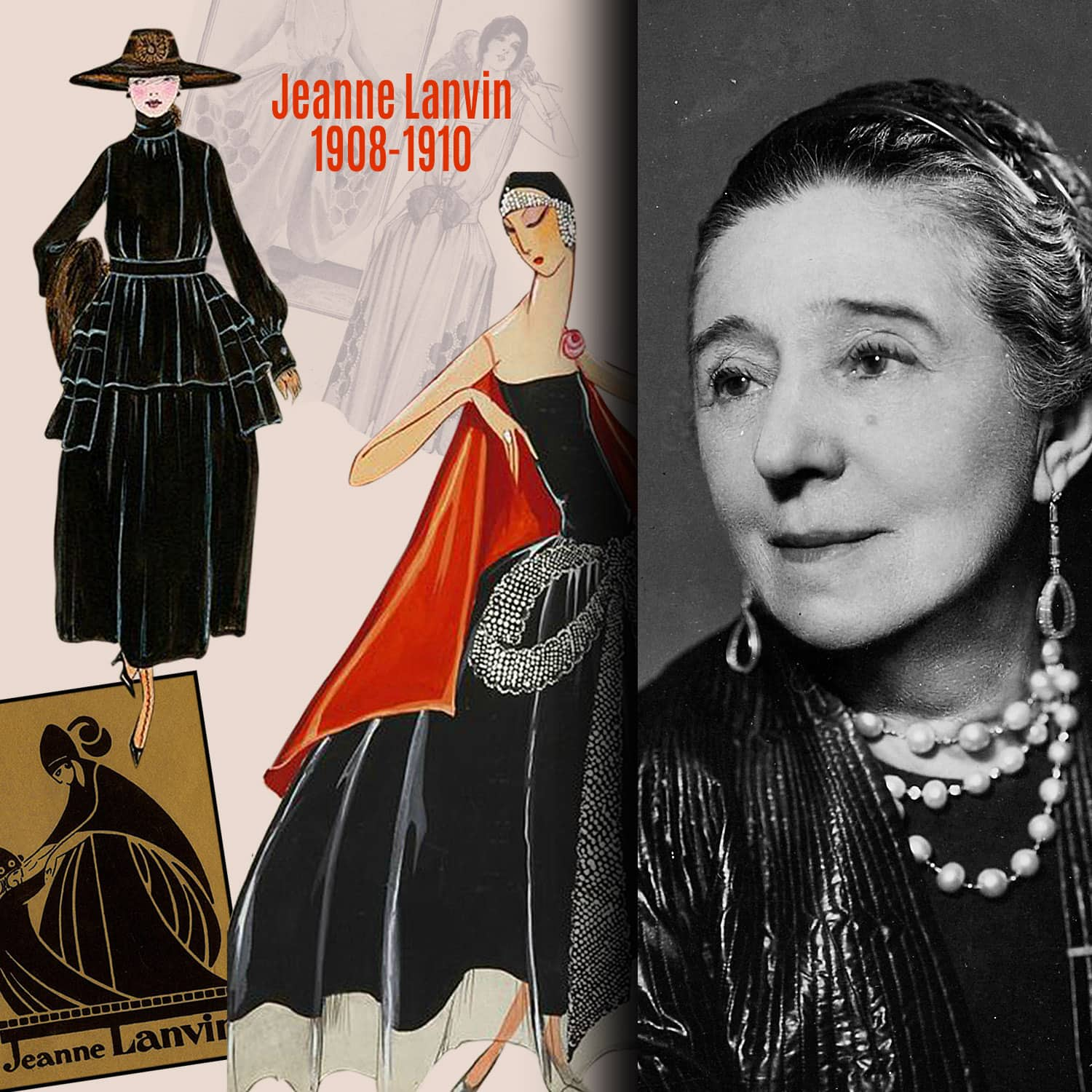Jeanne Lanvin 1908-1910 inventions