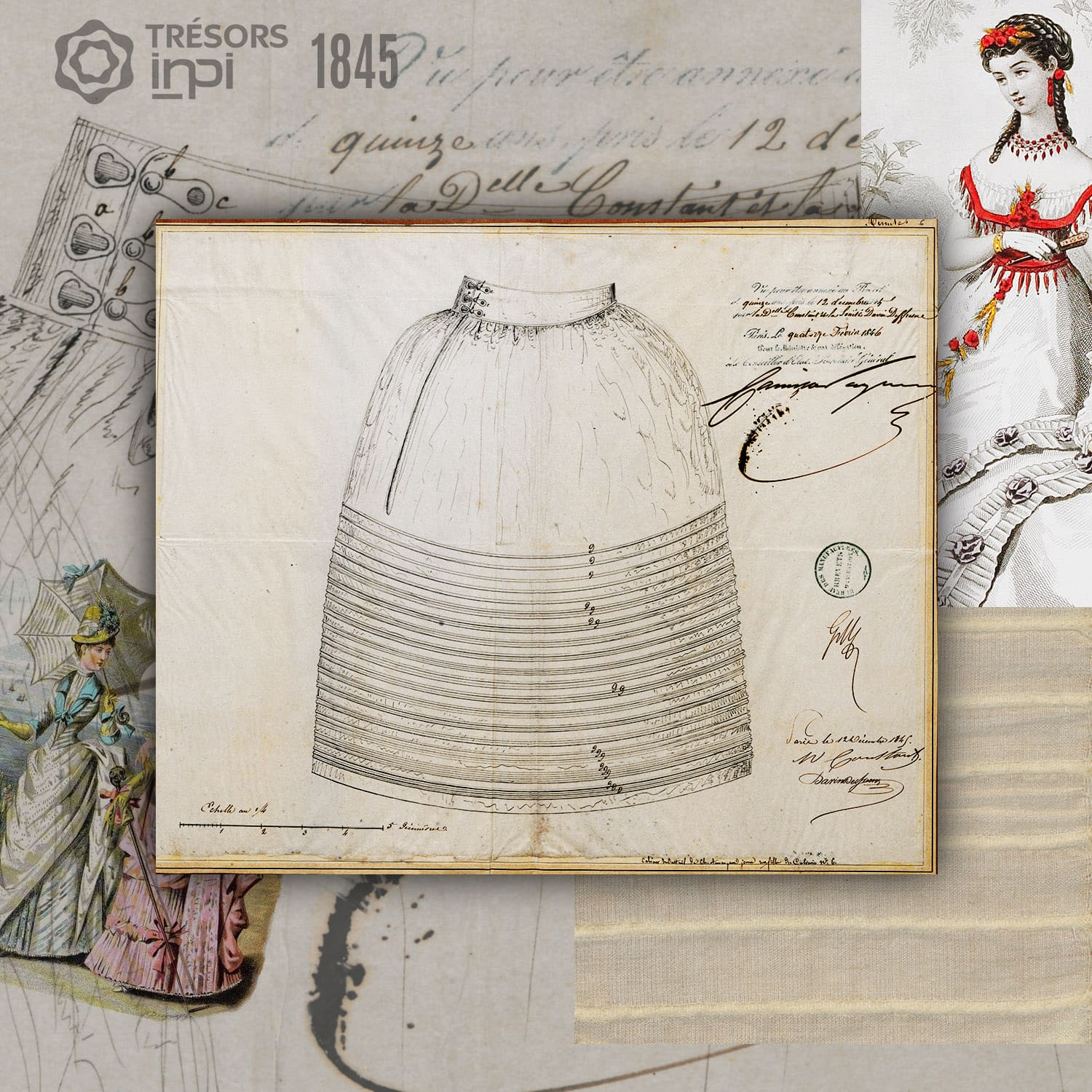 Marguerite Constant, Davin Desfresne 1845 invention - INPI archives