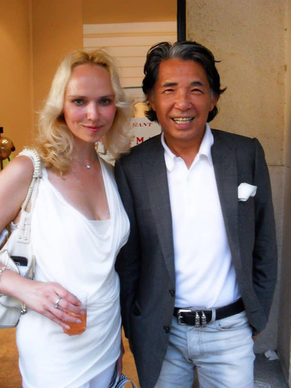 Kenzo Takada and Eleonora de Gray - Editor-in-Chief of RUNWAY MAGAZINE