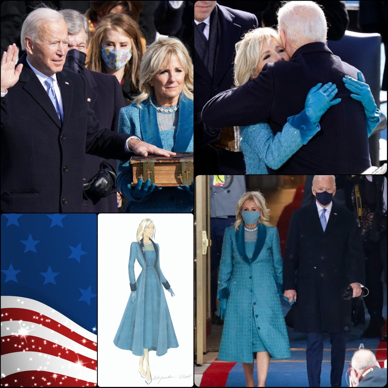 Inauguration of President Joe Biden -Jill Biden wears tailor Markarian - RUNWAY MAGAZINE