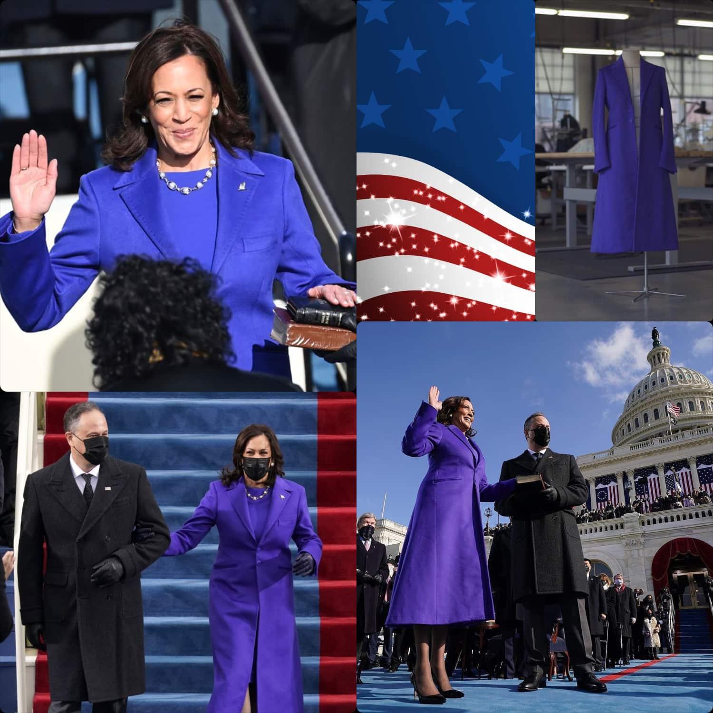 Inauguration of President Joe Biden -Kamala Harris wears Christopher John Rogers - RUNWAY MAGAZINE