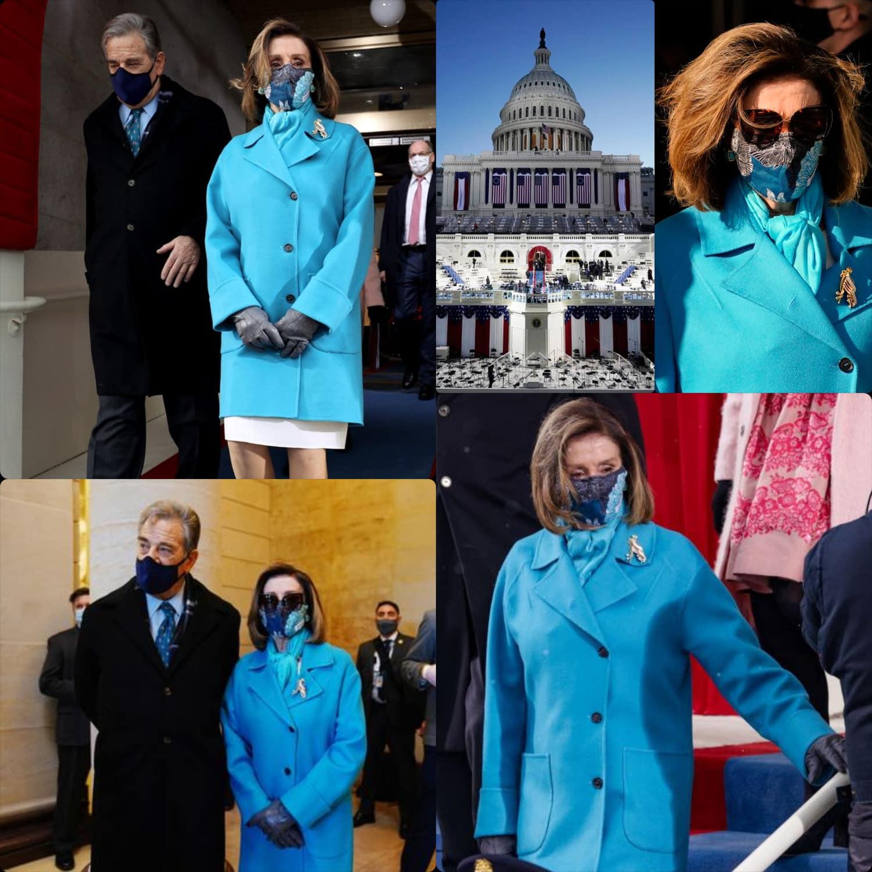 Inauguration of President Joe Biden -Nancy Pelosi wears Max Mara - RUNWAY MAGAZINE