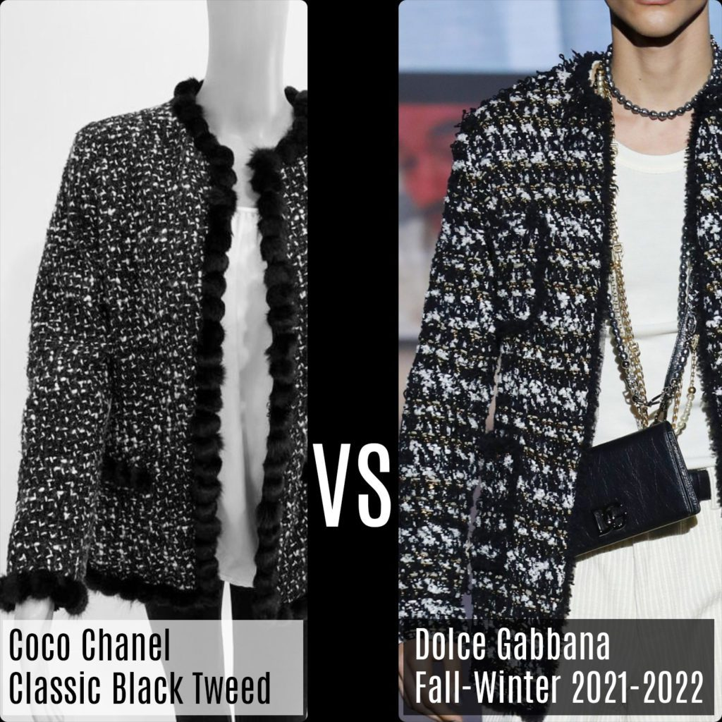 Chanel Classic Black Tweed Jacket VS Dolce Gabbana Fall-Winter 2021-2022