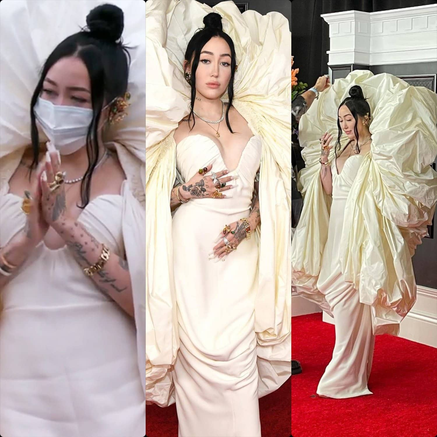 Noah Cyrus in Schiaparelli by Daniel Roseberry at Grammy Awards 2021 by RUNWAY MAGAZINE
