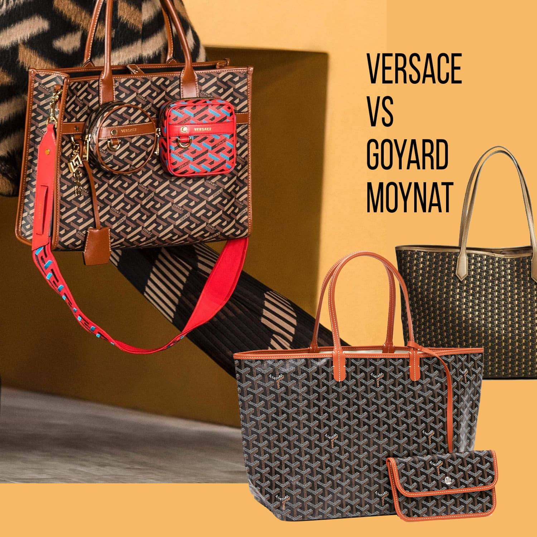 Versace monogram 2021 VS Goyard and Moynat by RUNWAY MAGAZINE