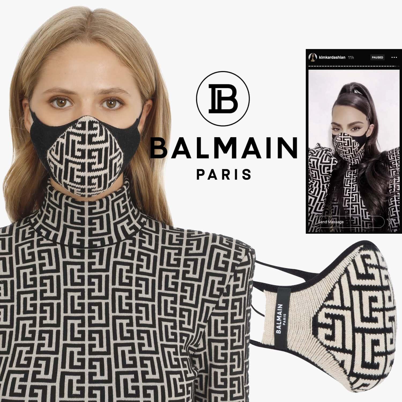 Balmain Protective Face Mask 2021 by RUNWAY MAGAZINE