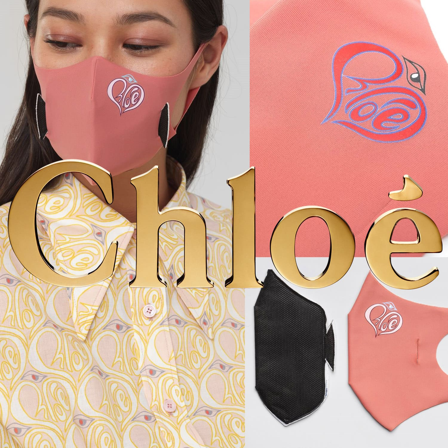 Chloe Protective Face Mask 2021 by RUNWAY MAGAZINE