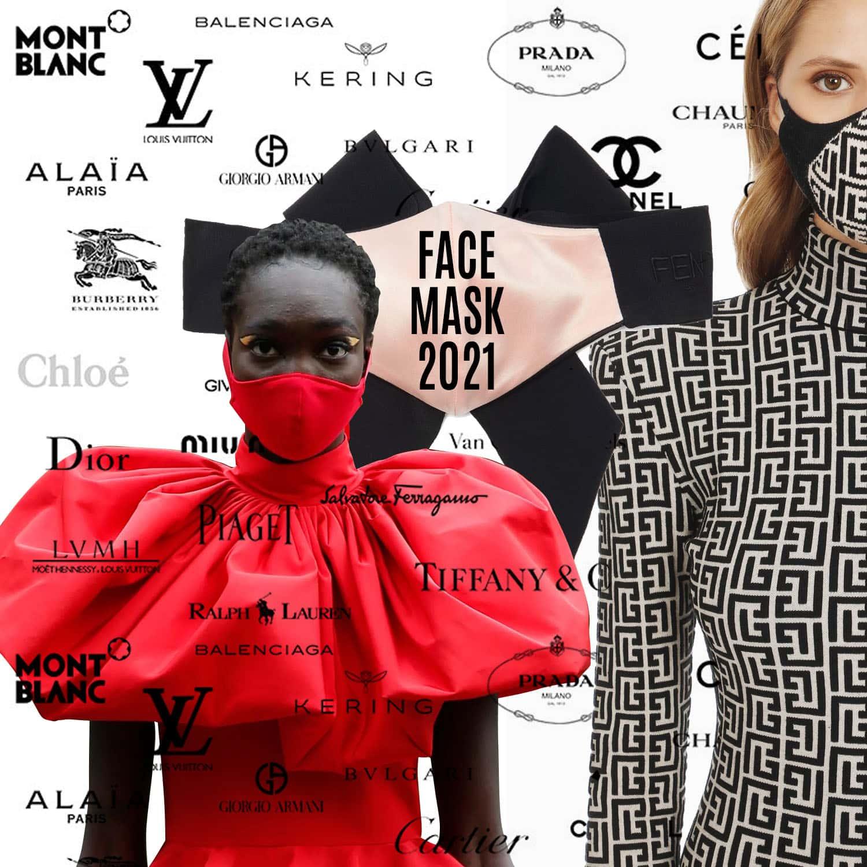 Designer Face Masks new trend 2021 by RUNWAY MAGAZINE