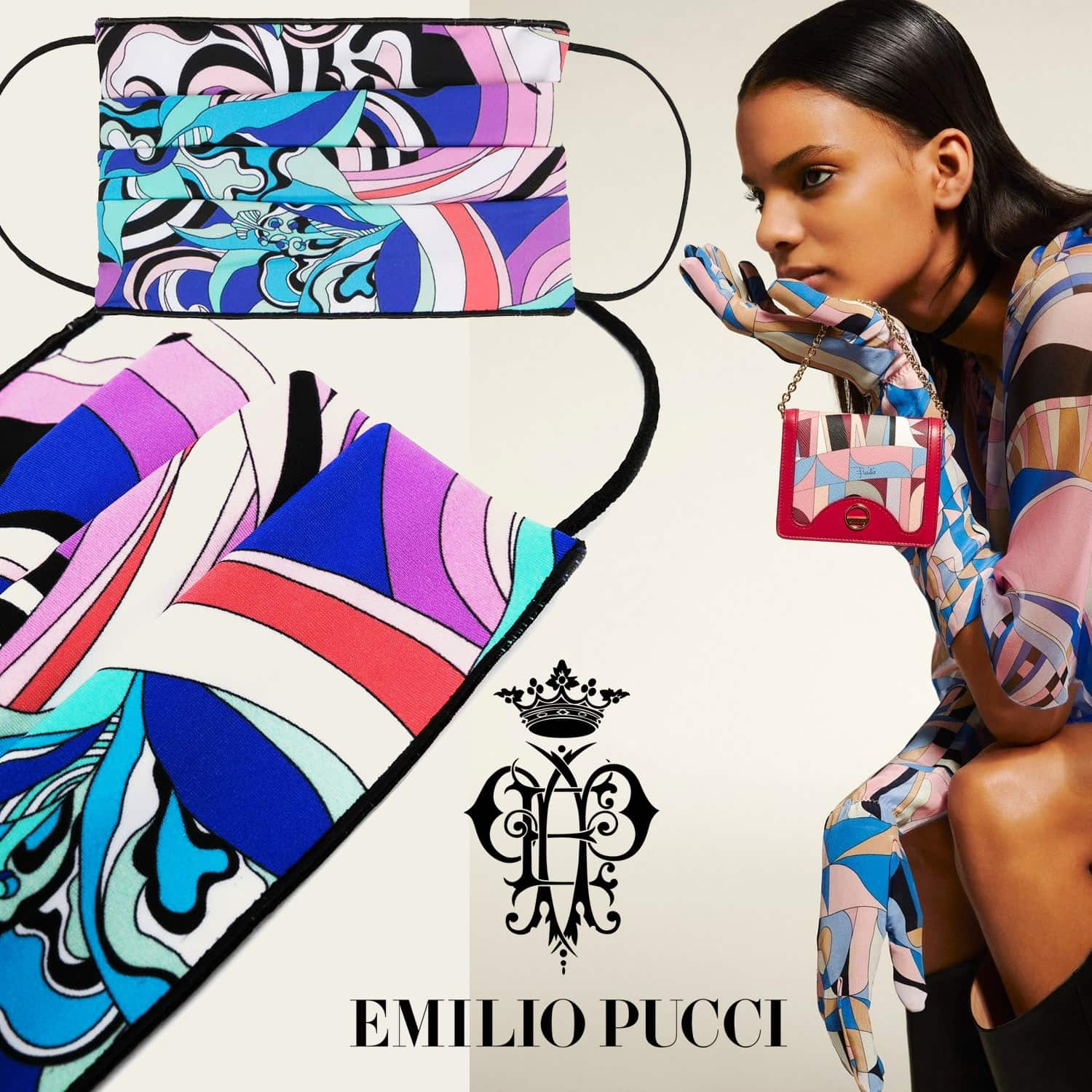 Emilio Pucci Protective Face Mask 2021 by RUNWAY MAGAZINE