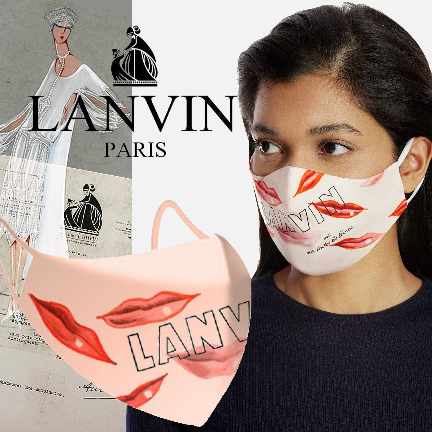 Lanvin Protective Face Mask 2021 by RUNWAY MAGAZINE