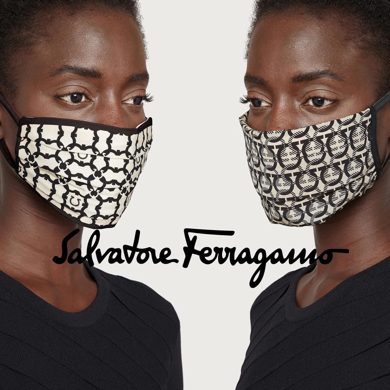 Salvatore Ferragamo Protective Face Mask 2021 by RUNWAY MAGAZINE