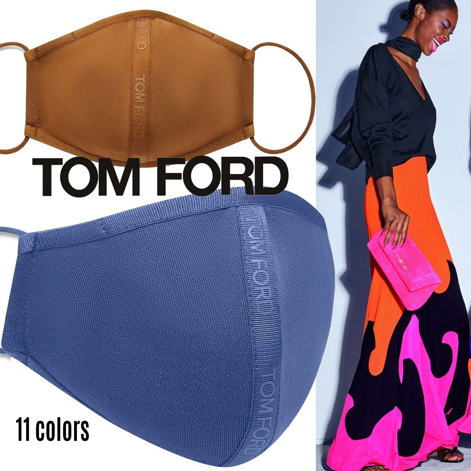 Tom Ford Protective Face Mask 2021 by RUNWAY MAGAZINE