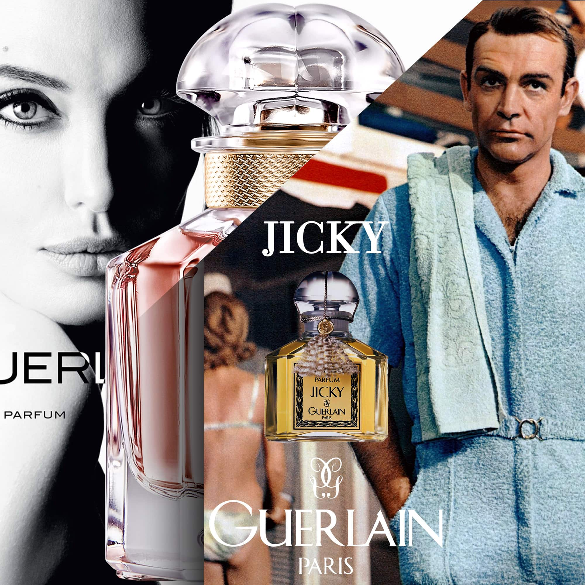 Guerlain advertising - Sean Connery - Angelina Jolie -Tresors INPI by RUNWAY MAGAZINE