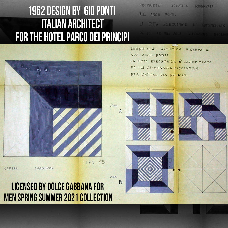 Gio Ponti 1962 - Hotel Parco dei Principi - designs - tribute by Dolce Gabbana - review by RUNWAY MAGAZINE