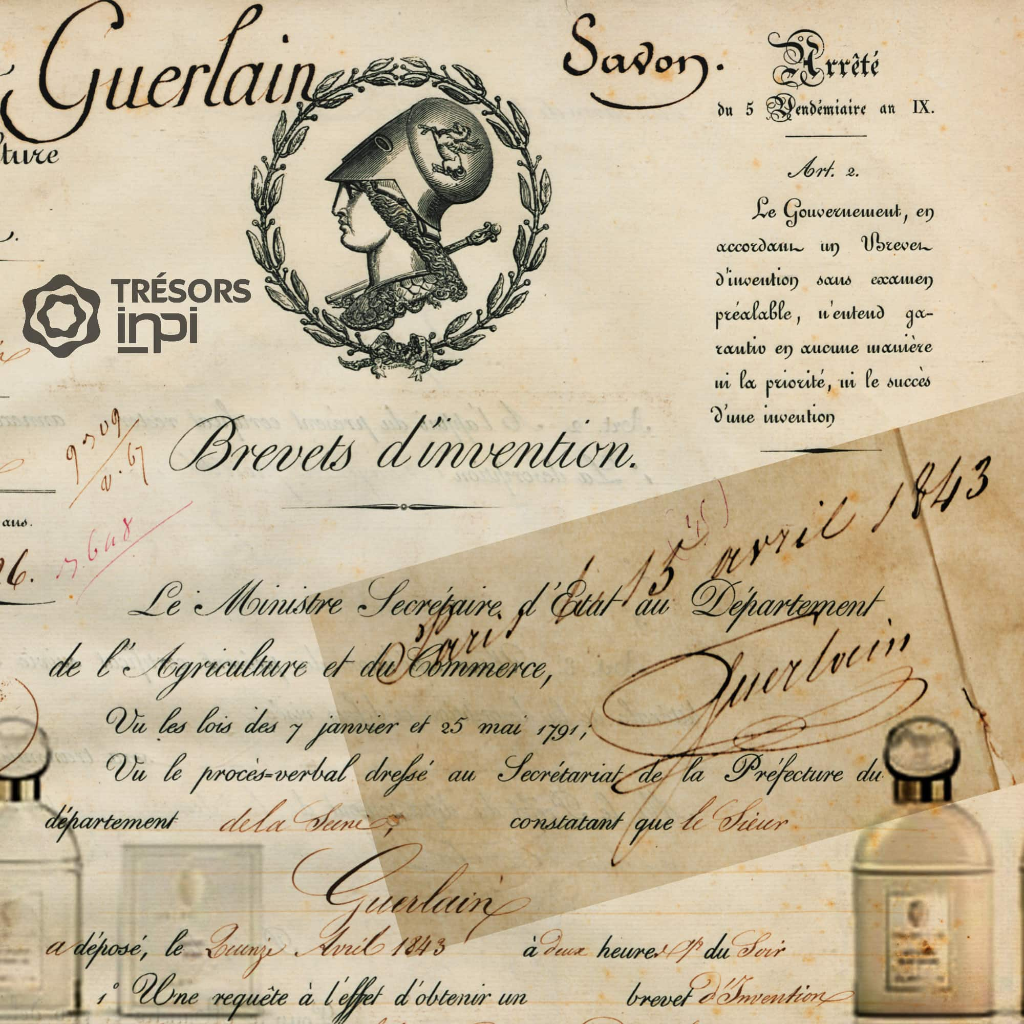First patents filed by Pierre-François-Pascal Guerlain 1843 - Tresors INPI by RUNWAY MAGAZINE