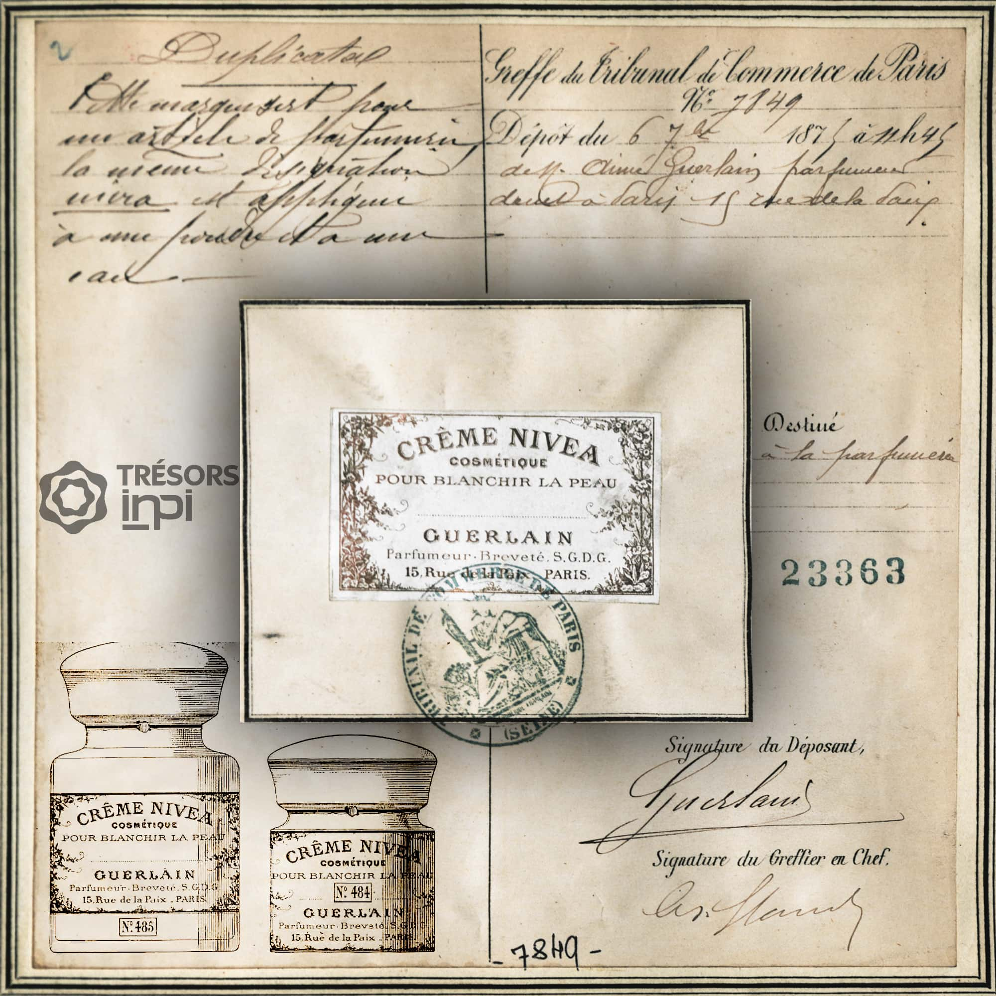 Aimé Guerlain filed Patent 1875 for Nivea Cream -Tresors INPI by RUNWAY MAGAZINE