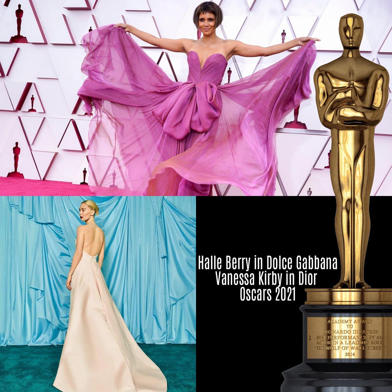 Halle Berry in Dolce Gabbana, Vanessa Kirby in Dior per gli Oscar 2021 di RUNWAY MAGAZINE