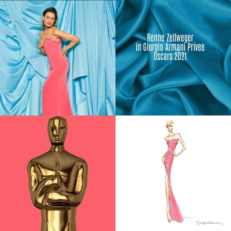 Renne Zellweger in Giorgio Armani Privee per gli Oscar 2021 di RUNWAY MAGAZINE