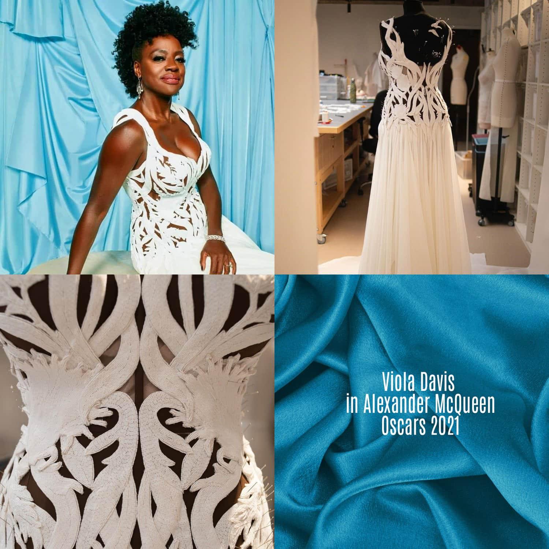 Viola Davis in Alexander McQueen per gli Oscar 2021 di RUNWAY MAGAZINE