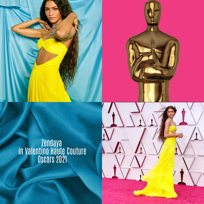 Zendaya in Valentino Haute Couture per gli Oscar 2021 di RUNWAY MAGAZINE